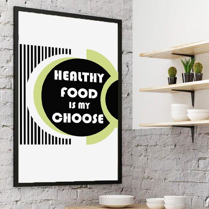 Plakat Healthy food...