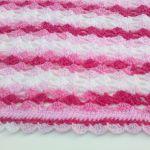 Kocyk różowy melanż - pled