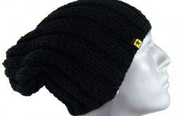 męska czarna czapka ściągaczowa