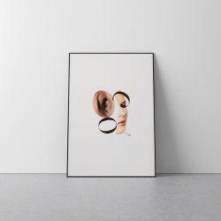Plakat kolaż twarz A3 29,7x42 cm