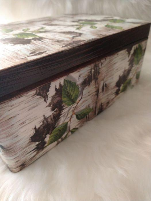 kufer z korą brzozy