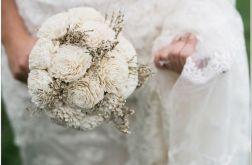 Bukiet ślubny kwiaty sola statycja