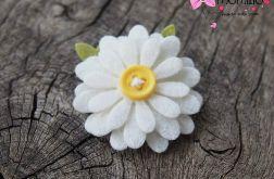 DAISY spineczka kwiatuszek biały