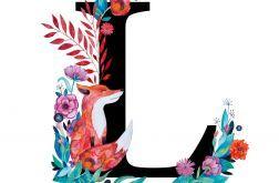 Alfabet L wydruk ilustracji