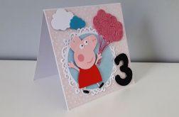 Kartka na urodziny Peppa 1, 2, 3...