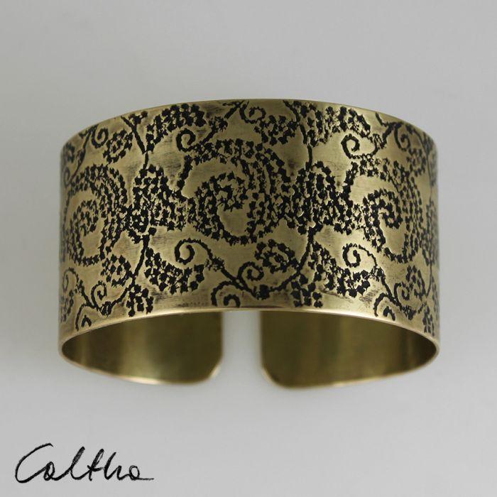 Mosiężna bransoleta - pnącza 171203-02 - Mosiężna bransoleta