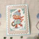 Kartka bożonarodzeniowa -Dziewczynka z wiankiem - widok ogólny