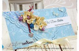 Kopertówka z okazji ślubu ' turkusowe lato'