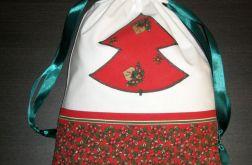 Woreczek na świąteczne prezenty