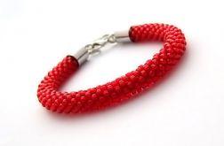 Bransoletka wąż czerwona1