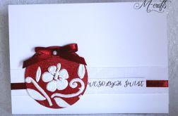 Czerwona...Kartka świąteczna
