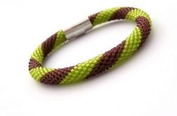 Bransoletka wąż zielono-fioletowa1