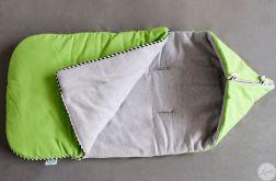 Zimowy śpiworek- zielony
