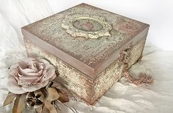 Szkatułka, pudełko vintage z baletnicą