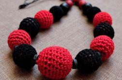 Korale czerwono-czarne