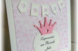Zaproszenia roczek księżniczka korona