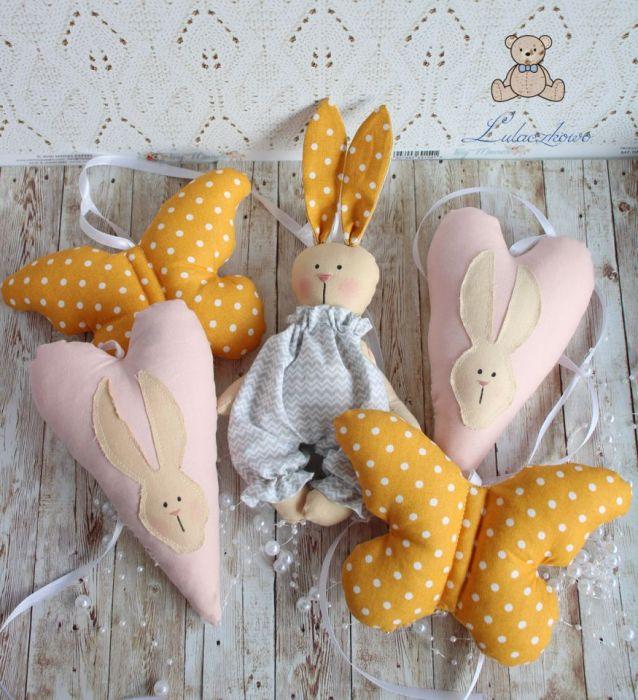 Girlanda z króliczkiem i sercami dekoracja -