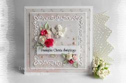 Pamiątka chrztu w pudrowym różu