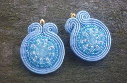 Wiosenne kolczyki sutasz niebieskie