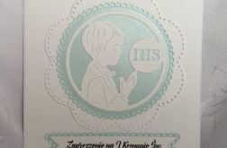 Zaproszenie I Komunia wzór 109