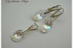 Komplet Swarovski Elements Pear Shaped Moonlight