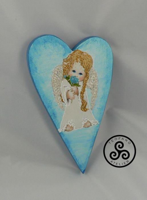 """Obrazek - serce """"Aniołek"""" - anioł, aniołek"""