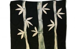 Czarna chusta Jedwabna - bambusy