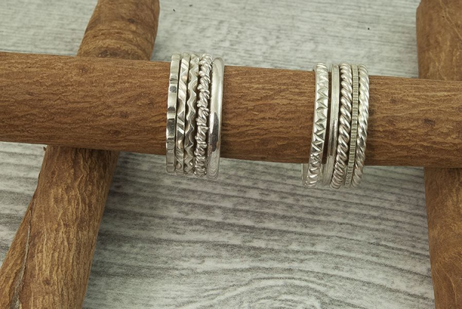 Pierścionki obrączki srebrne 925
