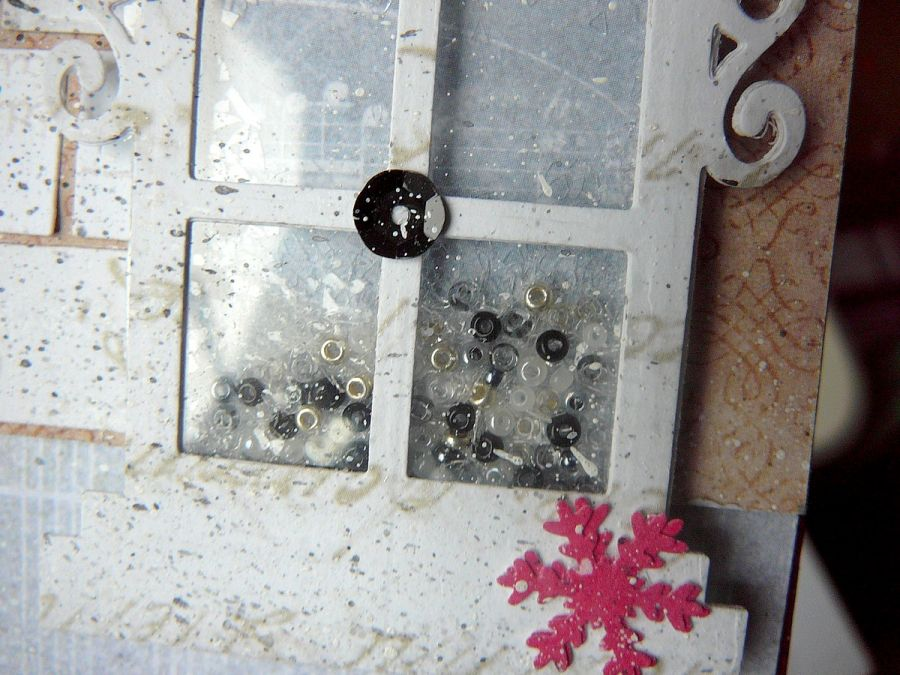 Kartka z okienkiem typu shaker box na święta