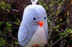 Haftowany ptaszek z filcu