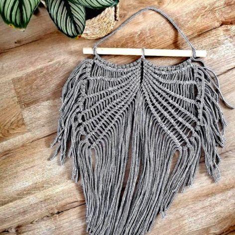 Makrama skrzydła dekoracja ścienna w stylu boho MS0107