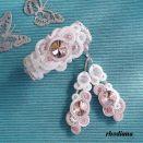 Rivoli Biel & Pudrowy Róż komplet ślubny sutasz