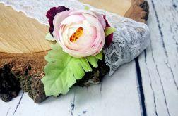 Bordowo różowa spinka