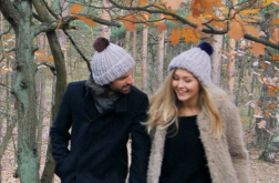 Szara klasyczna czapka dla niej, dla niego