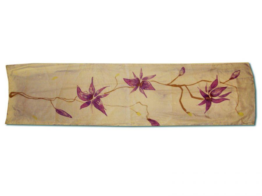 Szal ręcznie malowan Magnolia