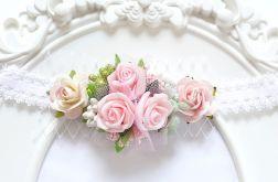 WIANEK OPASKA NEW BORN FILIPOLA KWIATY róz