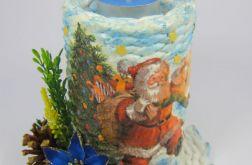 Świecznik bożonarodzeniowy z tealightem