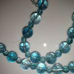 Naszyjnik z naturalnych niebieskich topazów - Naszyjnik z błękitnych topazów