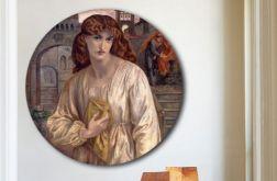 Powitanie Beatrice - obraz na okrągłej ramie