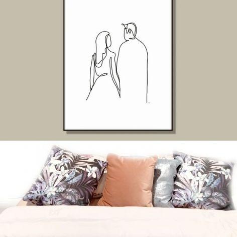 Grafika Kobieta i mężczyzna