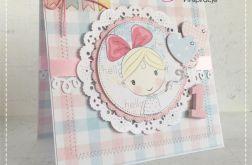 Kartka urodzinowa na roczek dla dziewczynki 1
