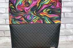 Szoperka, duża torba Ebru Kolorowe z czarnym