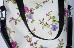 Torebka damska torba miejska kwiaty drobne