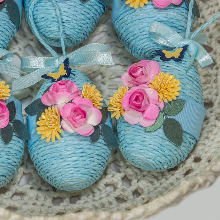 Dekoracja wielkanocna jajka 6 szt. błękit
