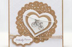 Eko baza - kartka ślubna z rowerem KS1924