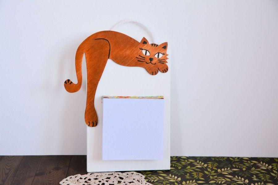 Deseczka na notatki - Rudy kociak