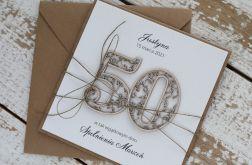 Kartka na 50 urodziny