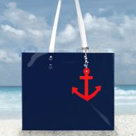 Marynarska torba z kotwicą - granatowa