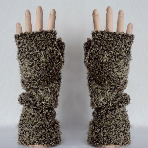 Rękawiczki mitenki misiowe