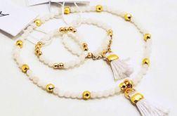Zestaw biżuterii Jadeit biały model 2